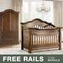 Baby Appleseed Millbury 2 Piece Nursery Set - Convertible Crib and Armoire in Coco