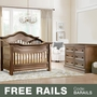 Baby Appleseed Millbury 2 Piece Nursery Set - Convertible Crib and Double Dresser in Coco