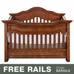 Baby Appleseed Millbury 3-in-1 Convertible Crib in Coco