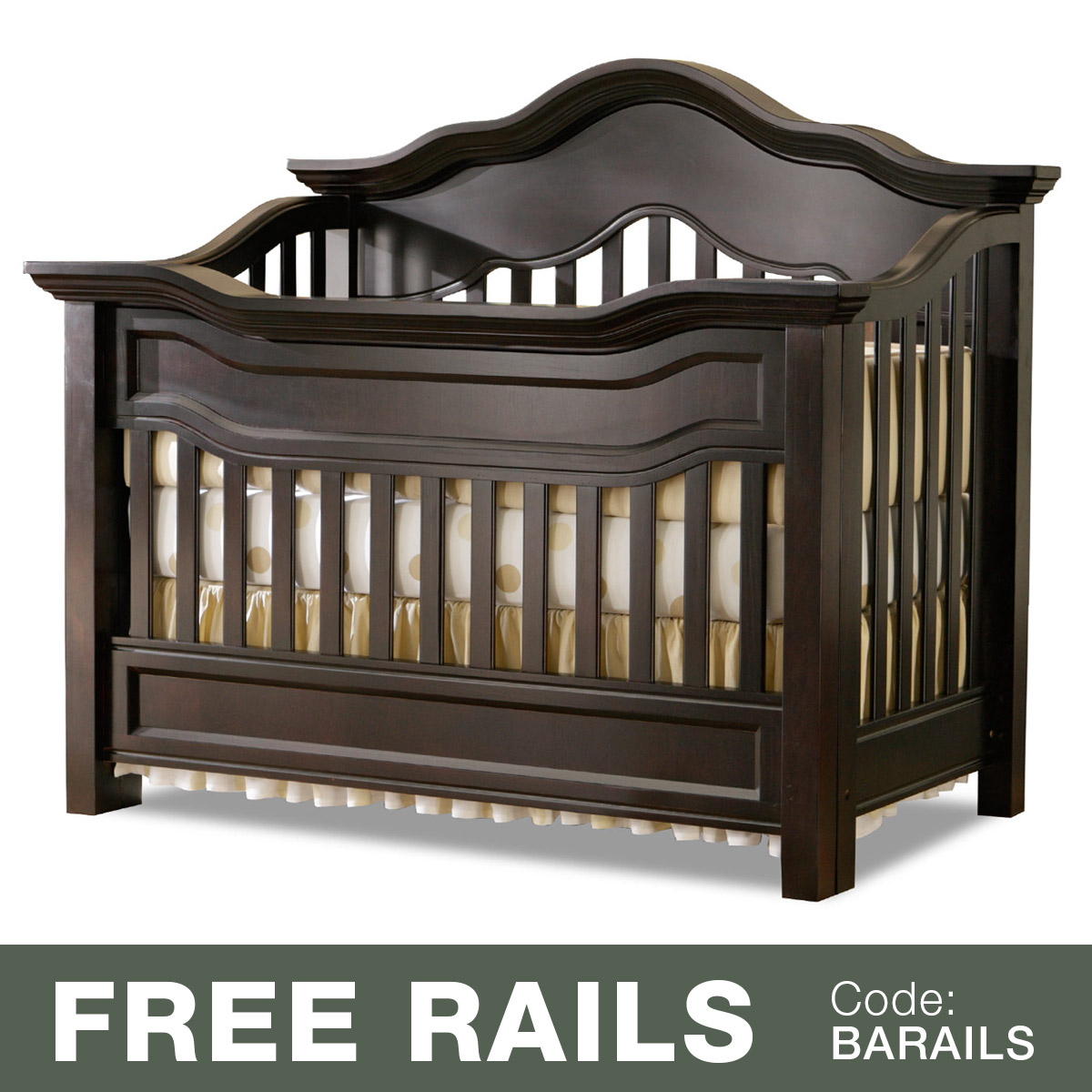 Baby Appleseed Millbury 3 In 1 Convertible Crib In Slate Free Shipping