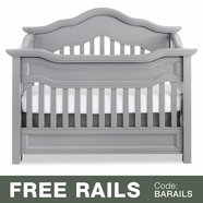 Baby Appleseed Millbury Convertible Crib in Moon Gray