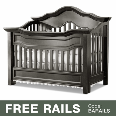 Baby Appleseed Millbury 3-in-1 Convertible Crib in Brown Slate - Click to enlarge