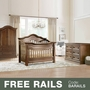Baby Appleseed Millbury 3 Piece Nursery Set - Convertible Crib, Armoire and Double Dresser in Coco
