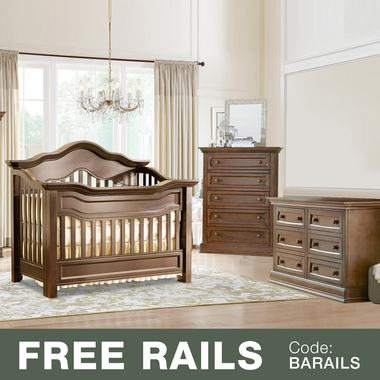 Baby Appleseed Millbury 3 Piece Nursery Set - Convertible Crib, Double Dresser and 5 Drawer Chest in Coco - Click to enlarge