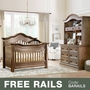 Baby Appleseed Millbury 3 Piece Nursery Set - Convertible Crib, Double Dresser and Hutch in Coco