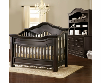 Baby Appleseed Millbury 3 Piece Nursery Set - Convertible Crib, Double Dresser and Hutch in Espresso
