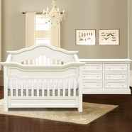 Baby Appleseed Millbury Convertible Crib Sets in Colonial White