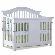 Baby Appleseed Stratford 3-in-1 Convertible Crib in Pure White