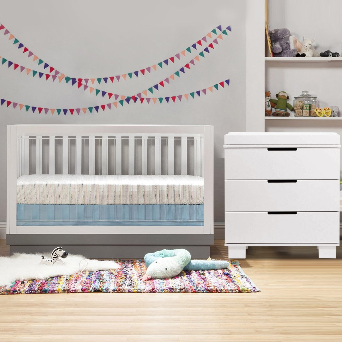 babyletto  piece nursery set  acrylic harlow in convertible crib and modo drawer dresser in white free shipping. babyletto  piece nursery set  acrylic harlow in convertible