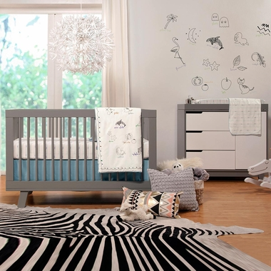 kit with toddler convertible hudson p bed openbox crib in conversion s babyletto grey ebay cribs