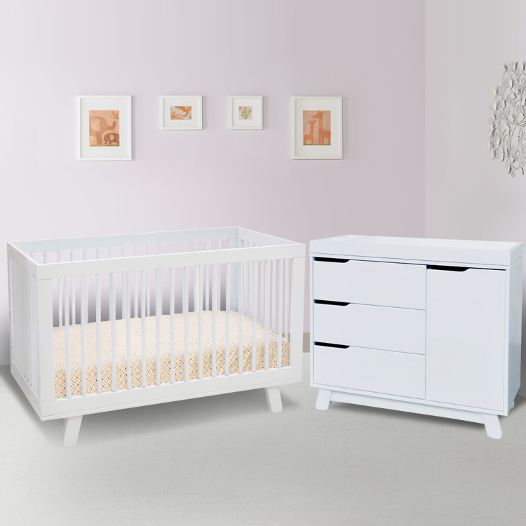 Babyletto 2 Piece Nursery Set   Hudson 3 In 1 Convertible Crib And Hudson  Changer Dresser In White FREE SHIPPING