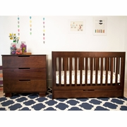 Babyletto 2 Piece Nursery Set - Mercer 3 in 1 Convertible Crib and 3 Drawer Dresser/Changer in Espresso