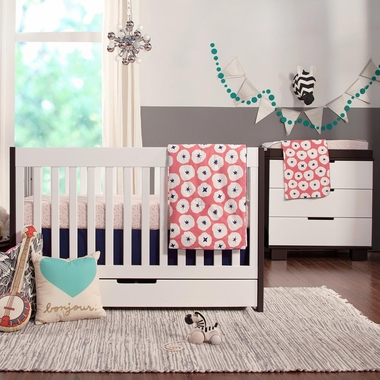 Modern Babyletto 2 Piece Nursery Set Mercer Two Tone 3