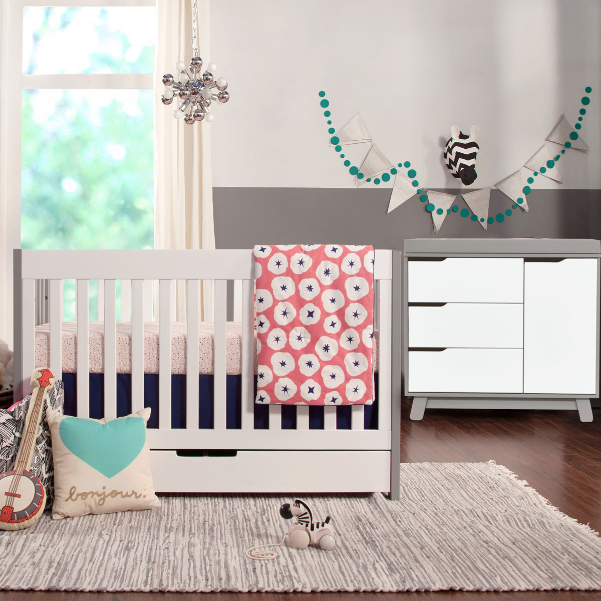 babyletto crib new crib zoom grey and white mercer convertible  - babyletto piece nursery set mercer crib and hudson changer