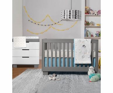 babyletto 2 piece nursery set modo 3 in 1 convertible crib and dresser babyletto furniture