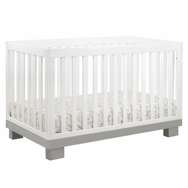 Babyletto Modo 3-in-1 Convertible Crib in Grey/White - Click to enlarge