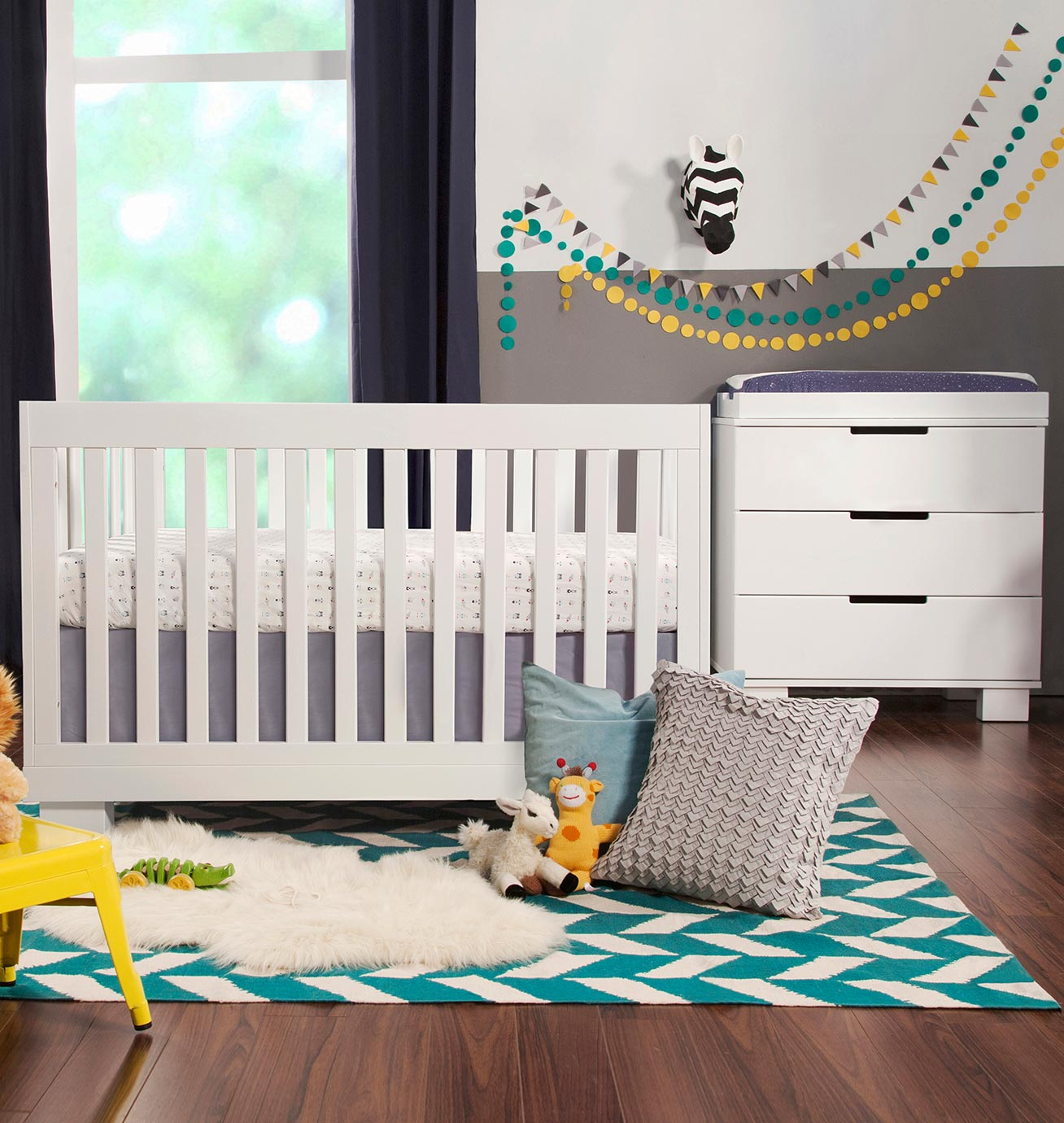 babyletto  piece nursery set  modo in convertible crib and dresserchanger in white free shipping. babyletto  piece nursery set  modo in convertible crib and