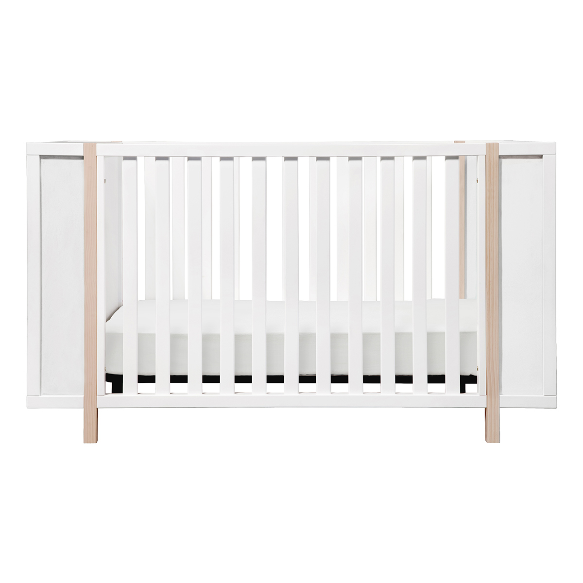 Babyletto Bingo 3 In 1 Convertible Crib And Storage Combo In White And  Washed Natural FREE SHIPPING
