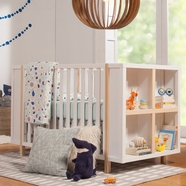Babyletto Bingo Convertible Crib in White and Washed Natural