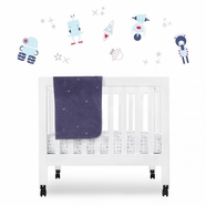 Babyletto Galaxy 4 Piece Mini Crib Bedding Set