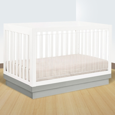 Babyletto Harlow 3 In 1 Convertible Crib In White Acrylic