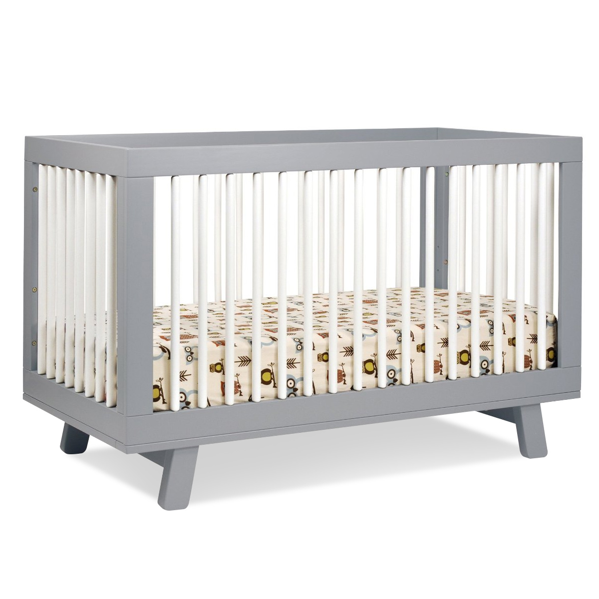 babyletto hudson in convertible crib in white free shipping -