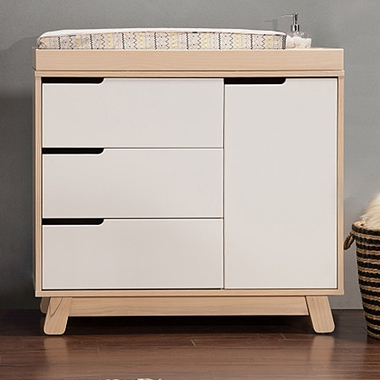 Babyletto Hudson 3 Drawer Changer Dresser W Removable Changing Tray In Washed Natural