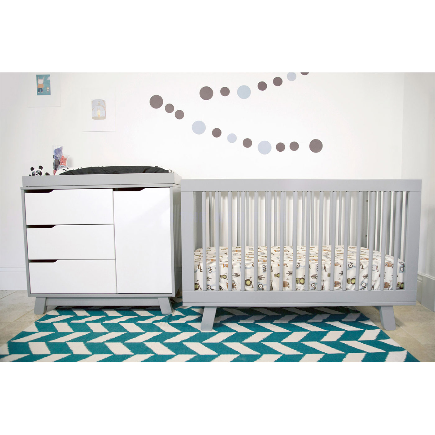 babyletto hudson in convertible crib in grey free shipping -