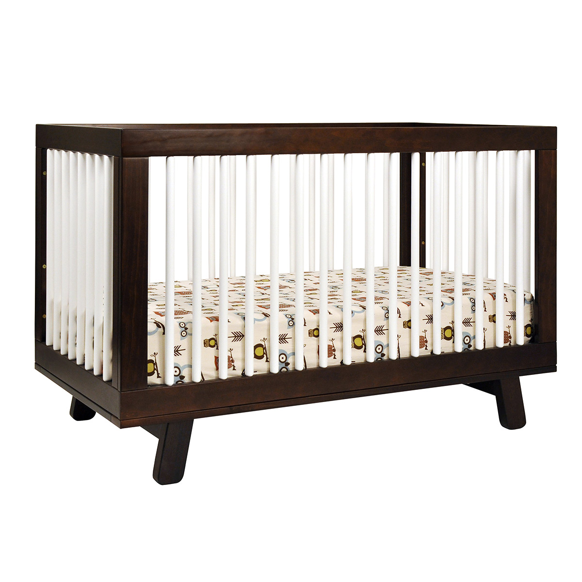 Babyletto Hudson 3 In 1 Convertible Crib In Two Tone Espresso And