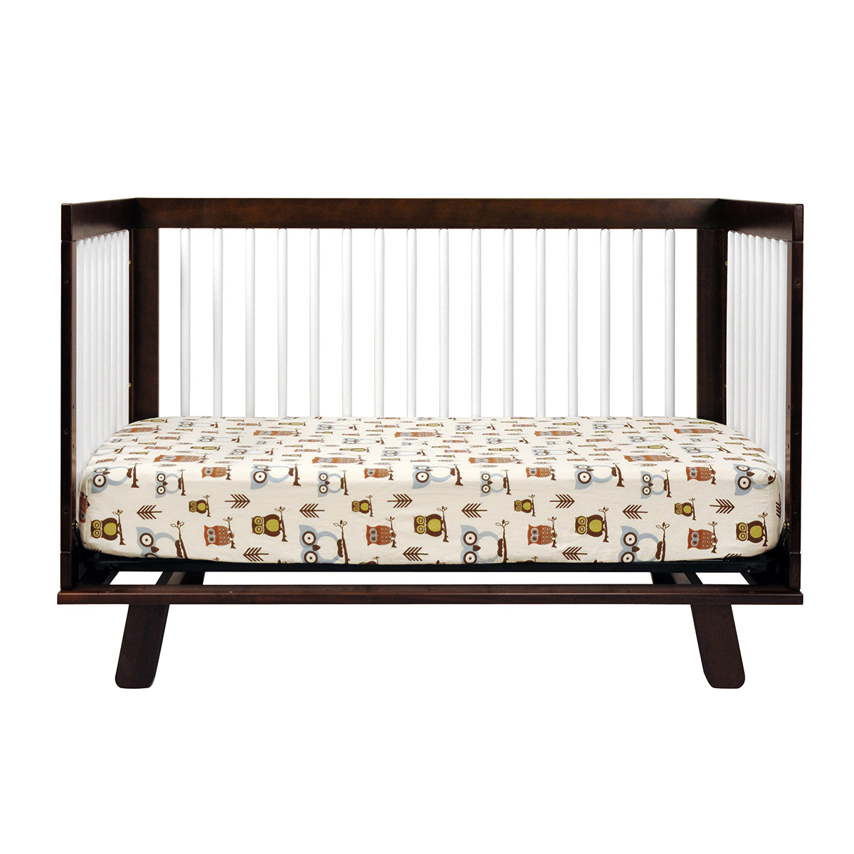 babyletto hudson 3 in 1 convertible crib in two tone espresso and white free shipping babyletto furniture