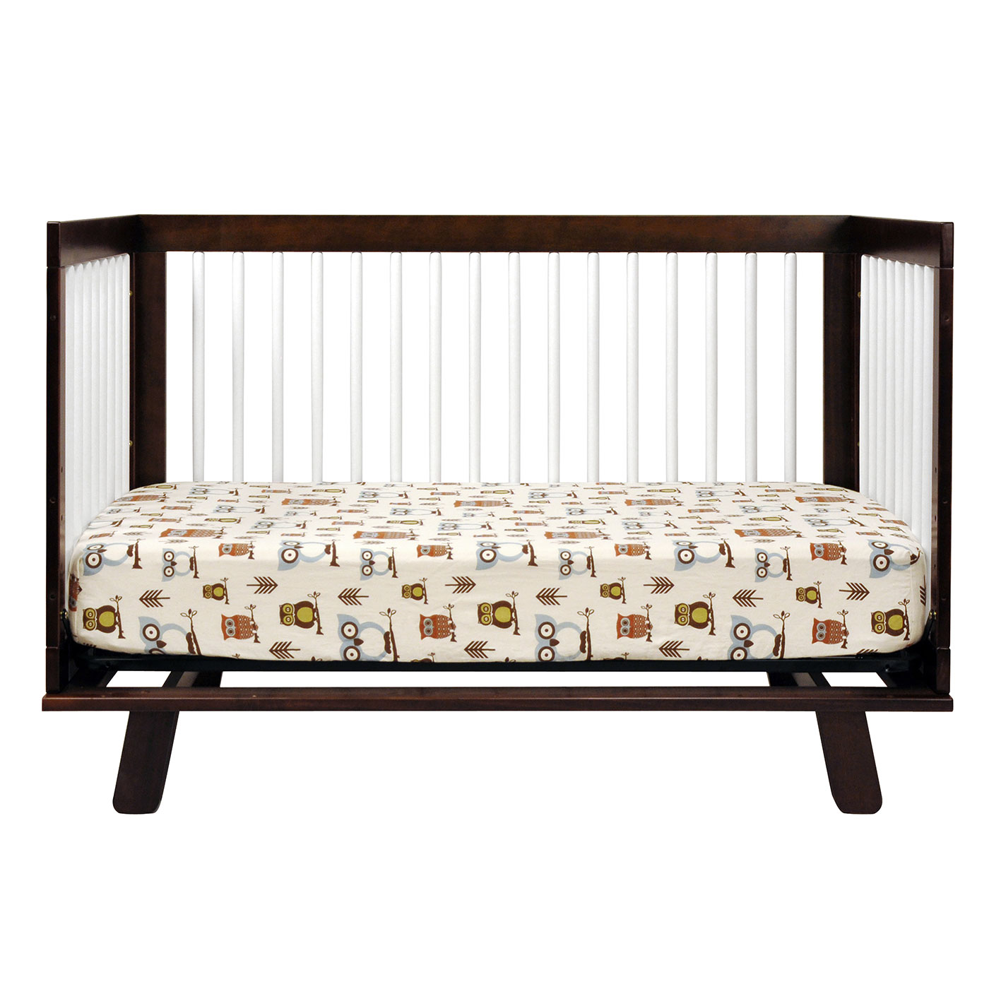 Babyletto Hudson 3 In 1 Convertible Crib In Two Tone Espresso And White  FREE SHIPPING