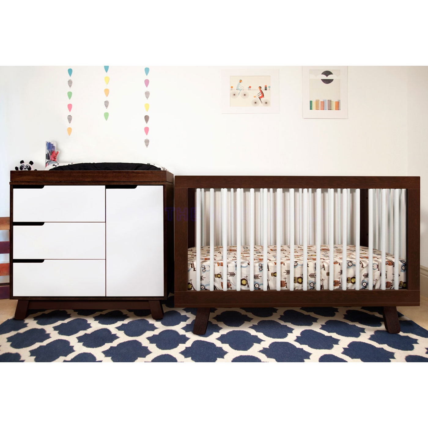 Beautiful Babyletto Hudson 3 In 1 Convertible Crib In Two Tone Espresso And White  FREE SHIPPING