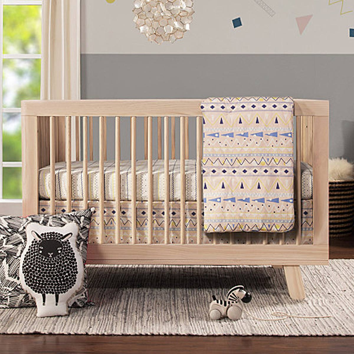Babyletto hudson 3 in 1 convertible crib toddler bed conversion kit in washed natural free shipping