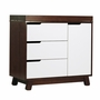 Babyletto Hudson Changer Dresser in Two Tone Espresso and White