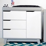 Babyletto Hudson Changer Dresser  in Two Tone Grey and White