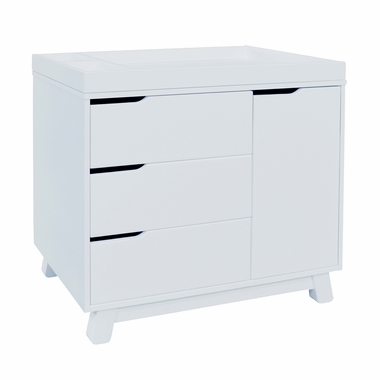 babyletto hudson changer dresser in two tone espresso and white free shipping