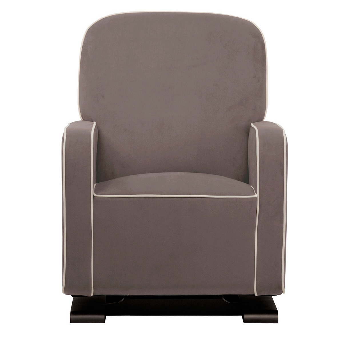 babyletto kyoto nursery glider in slate with ecru free shipping -