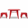 Babyletto Lemonade Table & 2 Stools in Strawberry