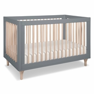 Babyletto Lolly Convertible Crib in Gray and Natural