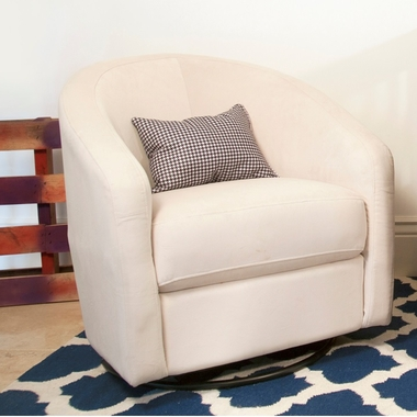 Babyletto Madison Swivel Glider In Ecru   Click To Enlarge