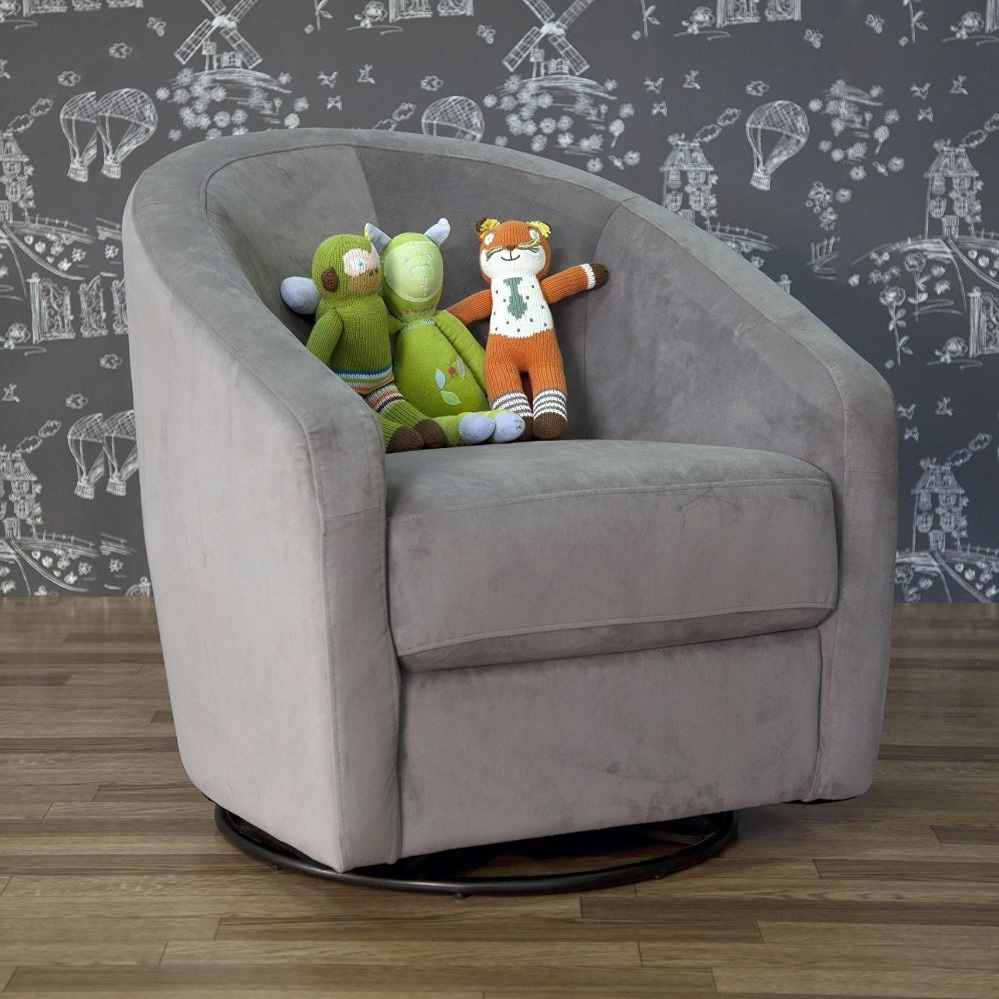 babyletto madison swivel glider in slate free shipping   -