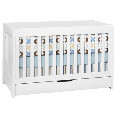 Babyletto Mercer 3 in 1 Convertible Crib in White - Click to enlarge