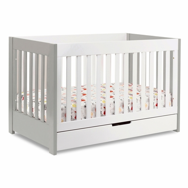 Babyletto Mercer Crib in Grey and White - Click to enlarge