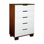 Babyletto Mercer Two-Tone Espresso/White 5 Drawer Dresser
