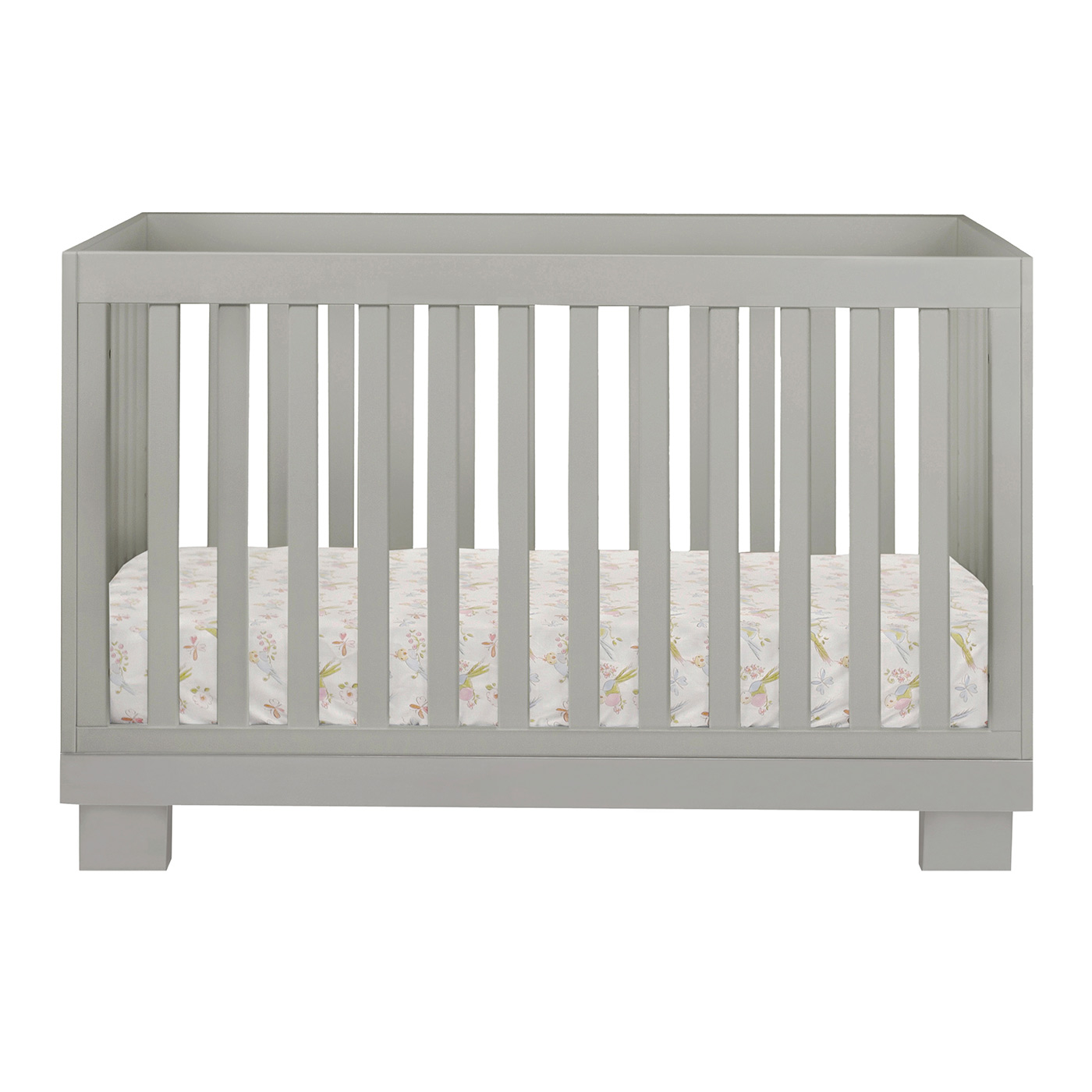 babyletto modo in convertible crib in grey free shipping -