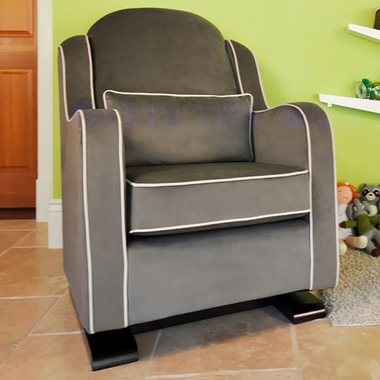 Babyletto Nara Glider in Slate with Ecru - Click to enlarge