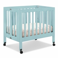 Babyletto Origami Mini Crib in Lagoon