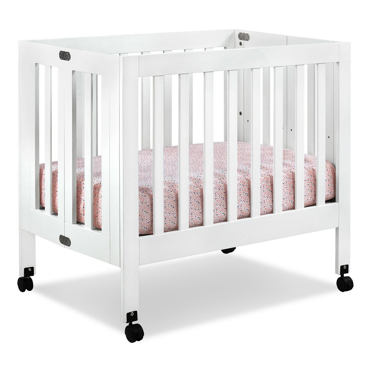 babyletto origami mini crib in white free shipping   -