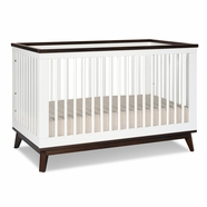 Babyletto Scoot Convertible Crib in White & Walnut