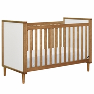 Babyletto Skip Crib in Chestnut and White